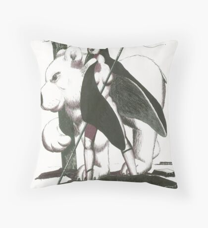 warriors of the black ice Throw Pillow