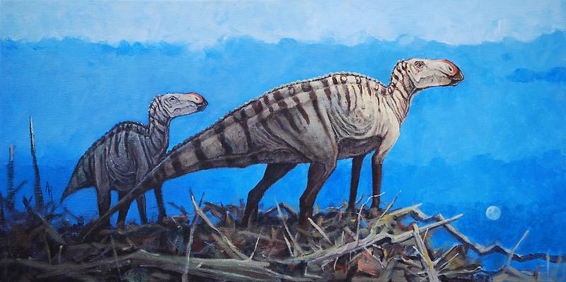 Cretaceous Overlook - Brachylophosaurus by Angie Rodrigues