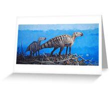 Cretaceous Overlook - Brachylophosaurus Greeting Card