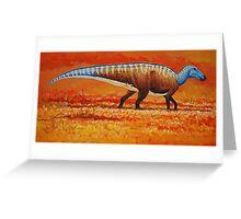 Field of Gold - Edmontosaurus Greeting Card