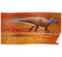 Field of Gold - Edmontosaurus Poster
