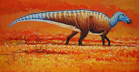 Field of Gold - Edmontosaurus by Angie Rodrigues