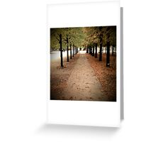 Champs-Elysées in the Fall Greeting Card