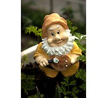 Painty the Garden Gnome Photographic Print