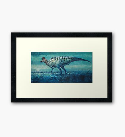 Prairie Moon - Corythosaurus Framed Print