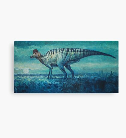 Prairie Moon - Corythosaurus Canvas Print