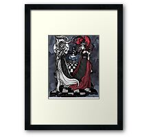 Alice and her Queens: The Checkered Board Framed Print