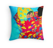 Grandmother with Baby II Throw Pillow