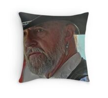 Cowboy with earring Throw Pillow