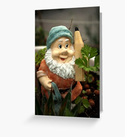 Doodlethumb the Garden Gnome Greeting Card