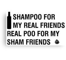 Sham-Poo (Black Text) Canvas Print