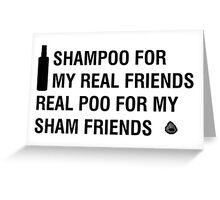 Sham-Poo (Black Text) Greeting Card