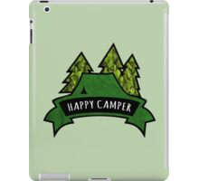 Camping makes me happy. iPad Case/Skin