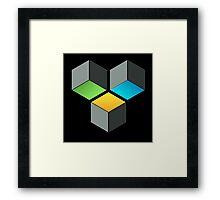 Cube Composition Framed Print