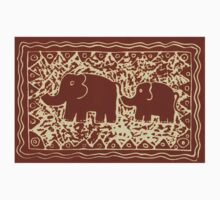 Elephant and Calf Lino (brown) Kids Clothes