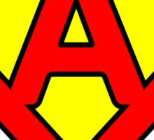 A letter in Superman style Sticker