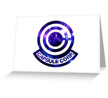 Galaxy Capsule Corp Logo Greeting Card