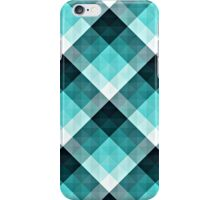 Modern Aqua Geometric Pattern iPhone Case/Skin