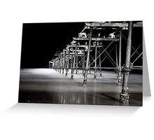 Saltburn Pier, dusk Greeting Card