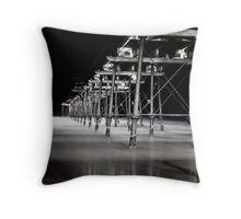 Saltburn Pier, dusk Throw Pillow