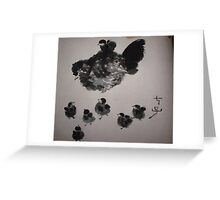 7 chicks Greeting Card