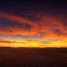 harvest sunset by Heath Dreger