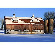 barn in dunn county, wisconsin Photographic Print