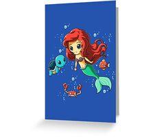 Disney's Ariel - Pokemon Mash Up Greeting Card