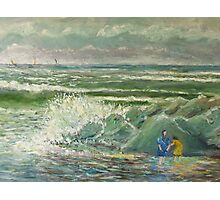 BREAKING SURF Photographic Print