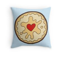 Jammy Dodger British Biscuit Throw Pillow