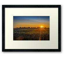Norfolk Sunset Framed Print