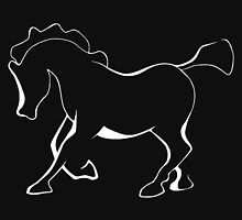 Horse or pony in white for dark materials. by Roy Isaacs