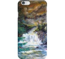 The boat on the river iPhone Case/Skin