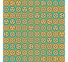 Gearwheels pattern Photographic Print