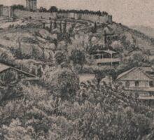 grecian hill Sticker