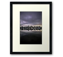 Mirror city if Vancouver Framed Print