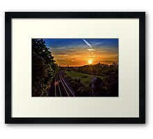 Railway to Hungerford Framed Print