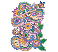 Doodle Aster Photographic Print