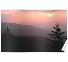 SUNSET FROM CLINGMANS DOME Poster