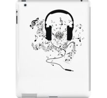Headphones and music notes iPad Case/Skin
