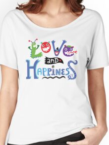 Love and Happiness  Women's Relaxed Fit T-Shirt