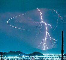 Bo Trek Lightning Strike Poster by Bo Insogna