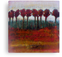 Fall Evening in the Forest, mixed media on canvas Canvas Print