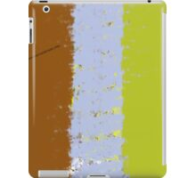 Brown, Blue, and Green, Stripes Design iPad Case/Skin