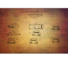 Ferdinand Porshe Patent For Carrera 911 From 1964 Photographic Print