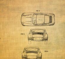 Ferdinand Porshe Patent For Carrera 911 From 1964 Sticker