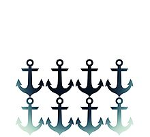 Anchors and Anchors and Anchors (On White) Photographic Print