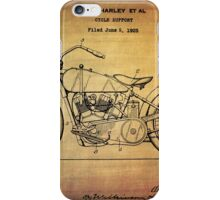 Harley Davidson Patent From 1928 iPhone Case/Skin