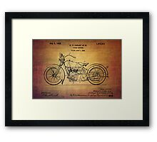 Harley Davidson Patent From 1928 Framed Print