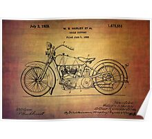 Harley Davidson Patent From 1928 Poster